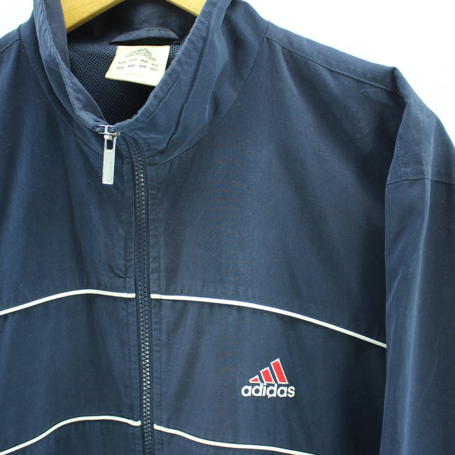 VTG adidas Men's Track Top Activewear Size 38/40 L Full Zip Jacket, Tracksuit, adidas, - Top-Garms