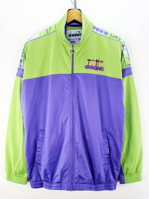 Vintage Diadora Track jacket Size 44 XL Full Zip Multicolor Track top