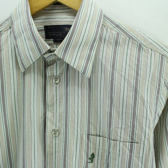 Marlboro Classics Men's Striped Shirt Size S Long Sleeve Cotton Casual, Shirt, Marlboro Classics, - Top-Garms