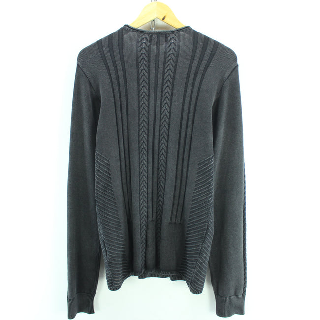 Marlboro Classics Women's Cable knit Jumper Size 2XL V Neck Cotton Black, Jumper Sweater, Marlboro Classics, - Top-Garms