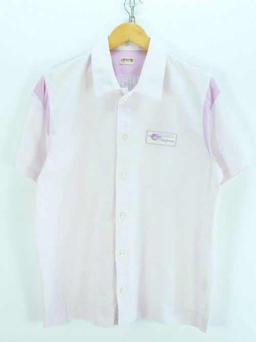 Levis Men's Shirt Size L, Pale Pink Shortsleeves Cotton Shirt