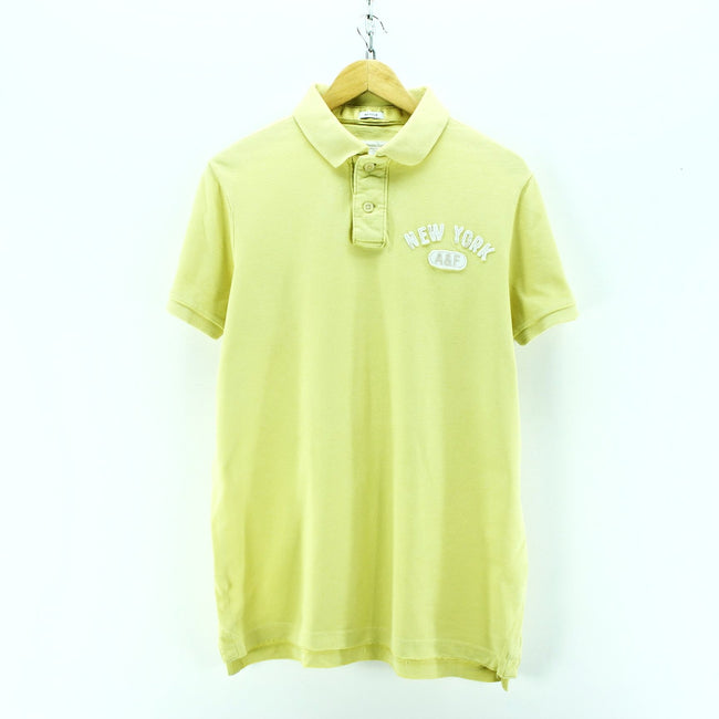 Abercrombie & Fitch Men's Polo Shirt Size XXL Yellow Short Sleeve Cotton - Top-Garms