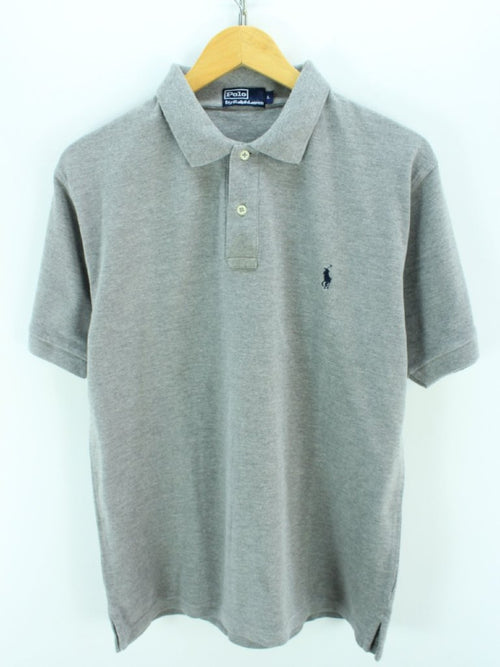 Authentic Ralph Lauren Men's Polo Shirt Size L Grey Shortsleeves Polo