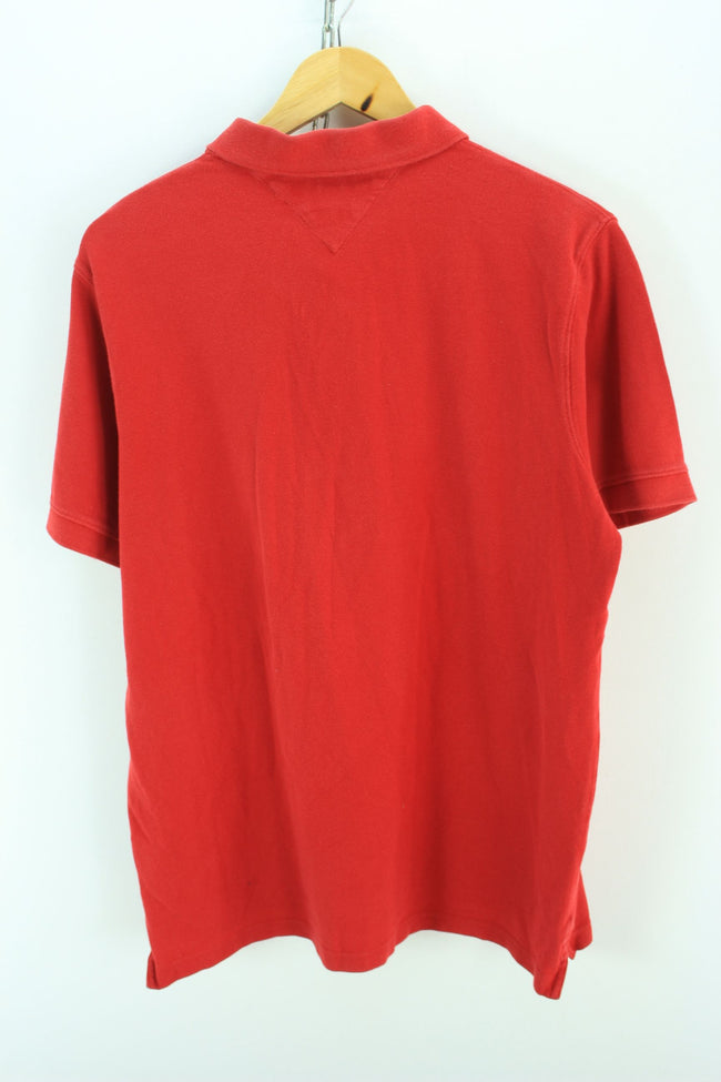 Tommy Hilfiger Men's Polo Shirt Size XL Red Shortsleeves Cotton Polo, Polo Shirt, Tommy Hilfiger, - Top-Garms