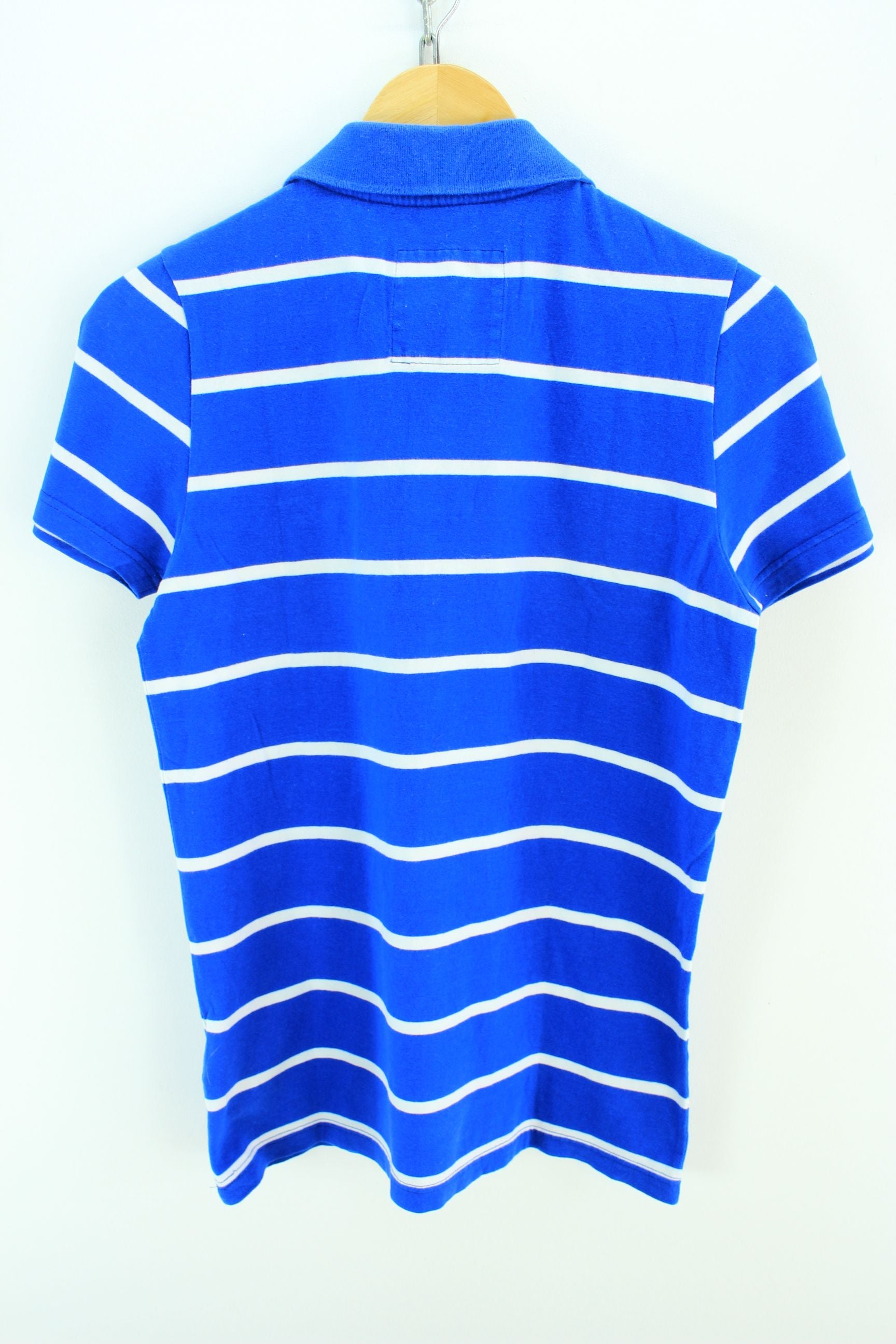 3229515b Hollister Men's Slim fit Polo Shirt Size S Blue Striped Shortsleeves Polo -  Top-Garms