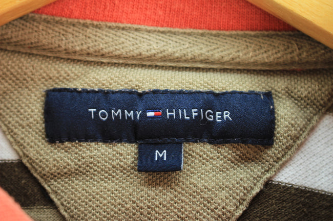 Tommy Hilfiger Men's Polo Shirt Size M Red Striped Shortsleeves Polo, Polo Shirt, Tommy Hilfiger, - Top-Garms