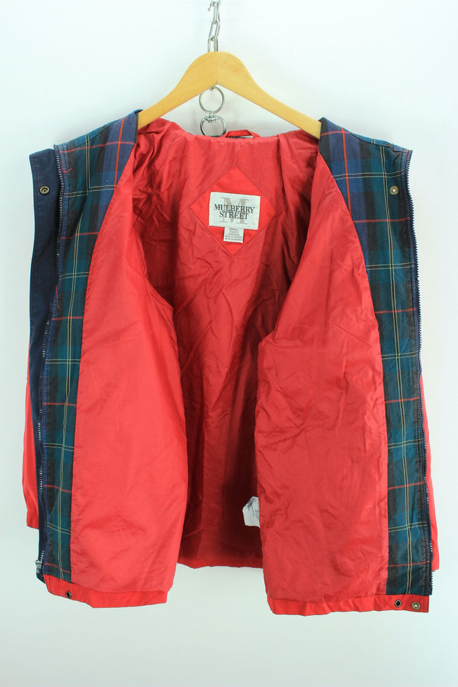 Mulberry Street Men's Jacket, Size S, Red Full Zip Bomber Jacket, Coat's & Jacket's, Mulberry, - Top-Garms