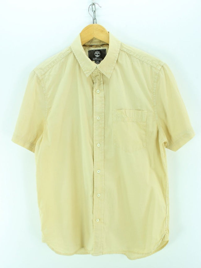 Timberland Men's Shirt Size S, Yellow Shortsleeves Cotton Shirt, Shirt, Timberland, - Top-Garms