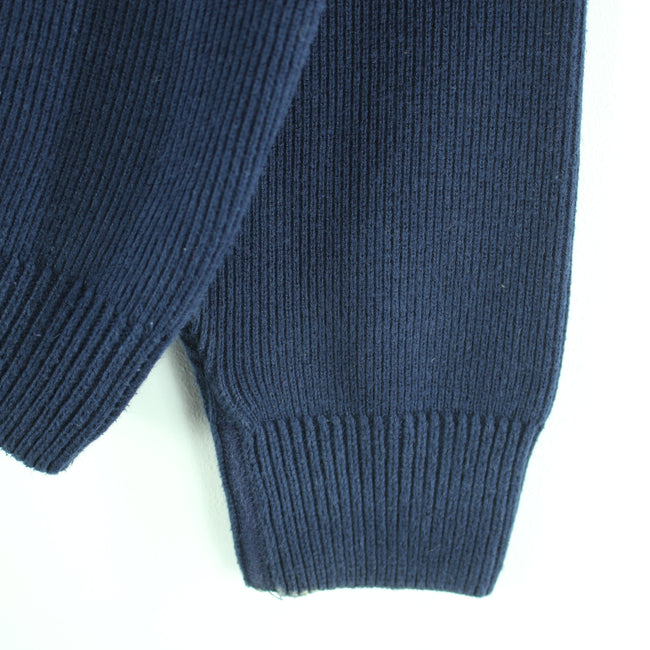Lacoste Men's V-Neck Jumper Size 4 L Long Sleeves Blue Cotton Sweater, Jumper Sweater, Lacoste, - Top-Garms