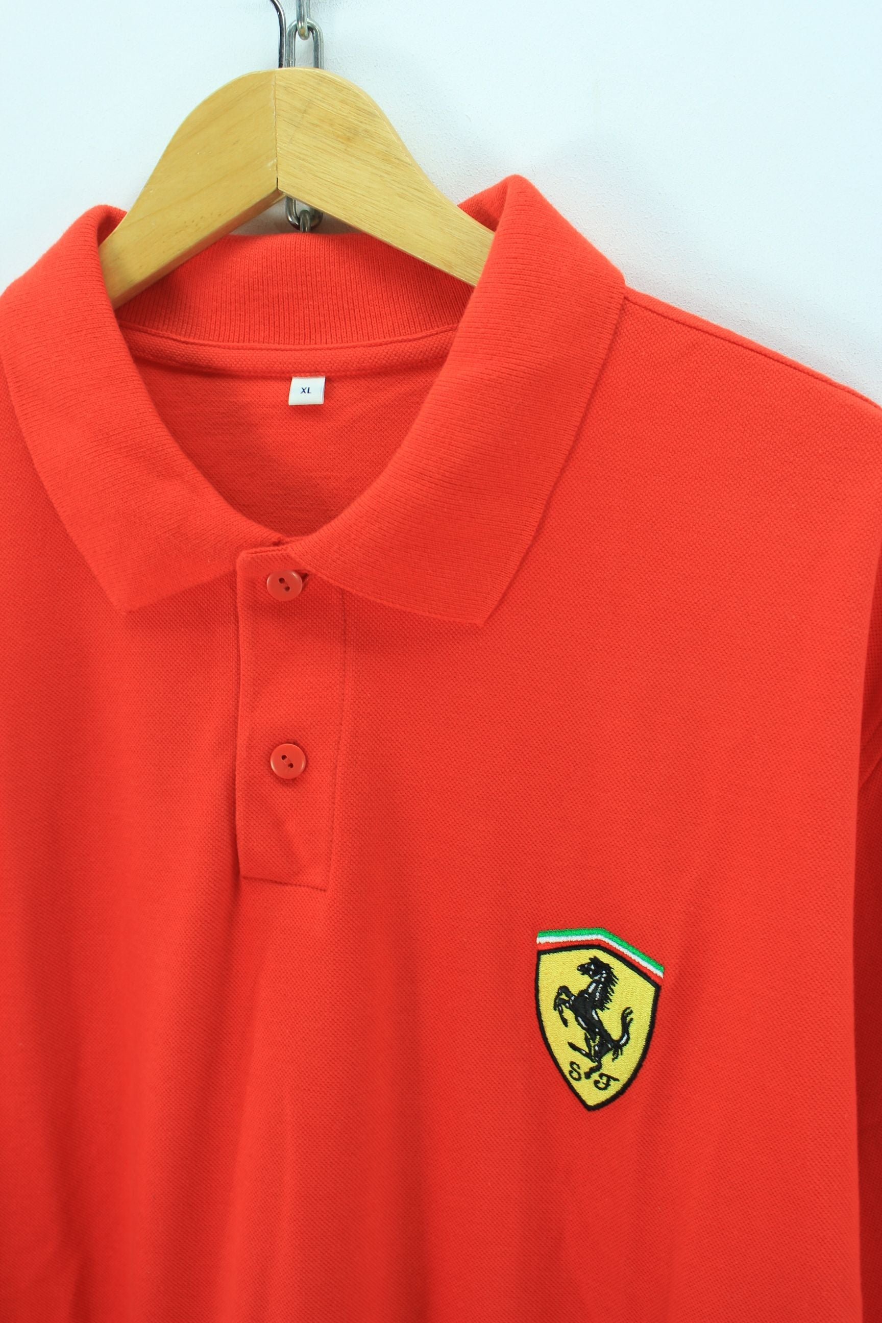 zul italy pl men team shirt polo countings ferrari tricolore scuderia red