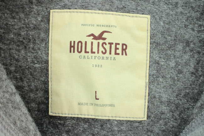 Hollister Women's Cardigan Size L Gray Button Front Cotton Sweater, Tracksuit, Hollister, - Top-Garms