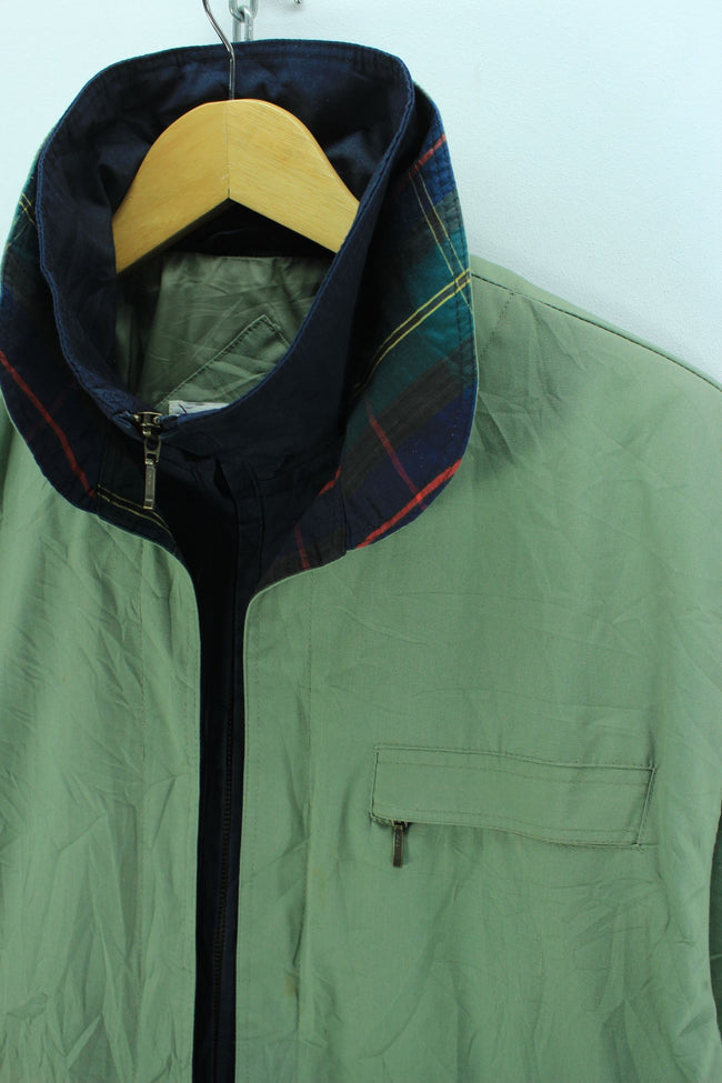 Mulberry Street Men's Jacket, Size M, Green Full Zip Top Quality Jacket, Coat's & Jacket's, Mulberry, - Top-Garms