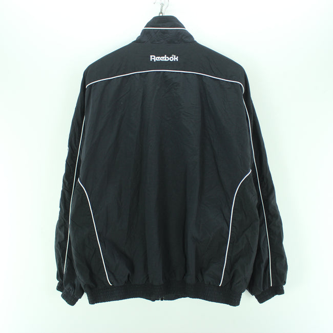 Vintage Reebok Track Jacket in Black Size XL Big Logo Spellout Track top, Tracksuit, Reebok, - Top-Garms