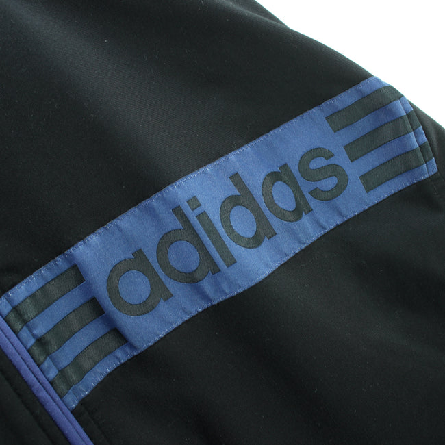 Vintage Adidas Track jacket Size 40/42 M Full Zip Black Long Track top, Tracksuit, Adidas, - Top-Garms