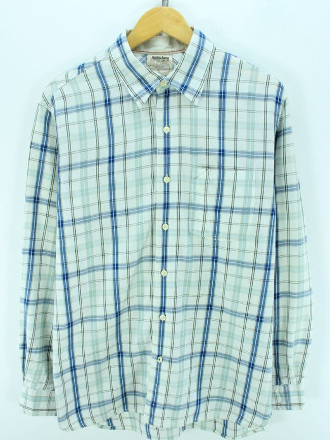 Timberland Men's Button Down Shirt Size M Multi Checkered Western Shirt, Shirt, Timberland, - Top-Garms