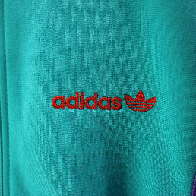 Vintage Adidas Track jacket Size 40/42 M Full Zip Green Track top, Tracksuit, Adidas, - Top-Garms