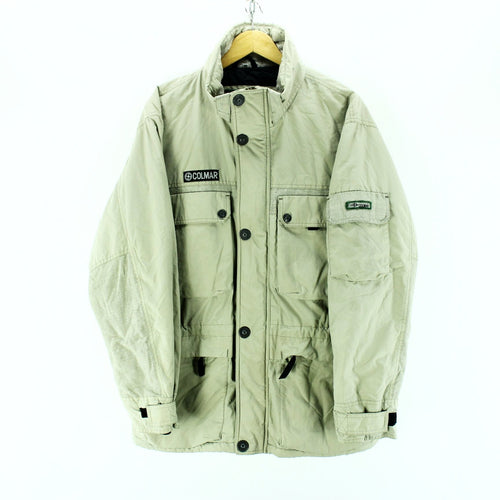 Colmar Basic Jacket in Beige Size M Full Zip Quality Winter Coat