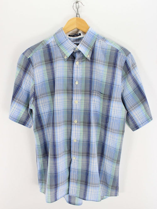 GANT check shirt, Size M, Shortsleeve blue button down shirt