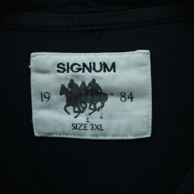 Signum Men's Rugby Shirt in Navy Blue Size 3XL Longsleeves Polo Shirt, Polo Shirt, SIGNUM, - Top-Garms