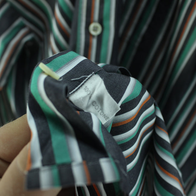 Pierre Cardin Men's Polo Shirt Size 15-1/2-39 M Multi Color Long Sleeve, Shirt, Pierre Cardin, - Top-Garms