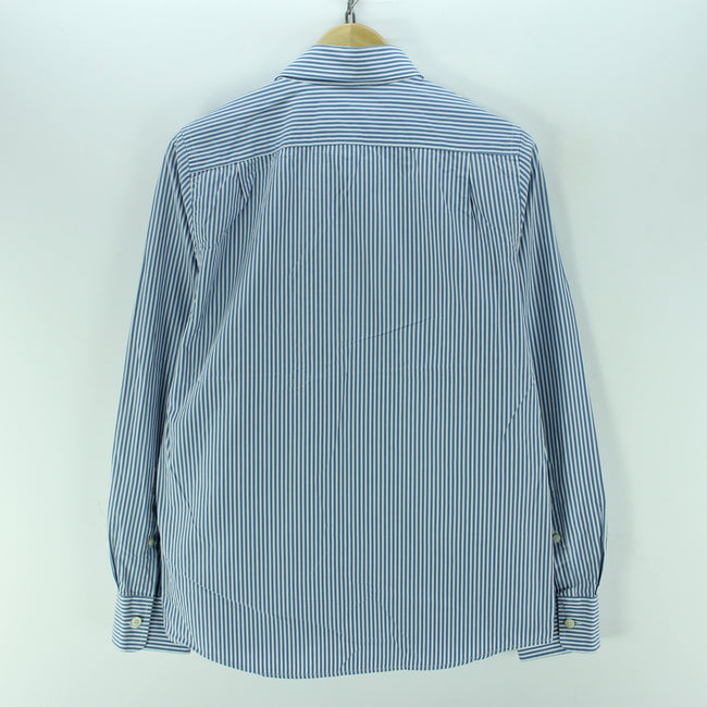 Abercrombie & Fitch Men's Shirt Size L in Blue Striped Muscle Shirt - Top-Garms