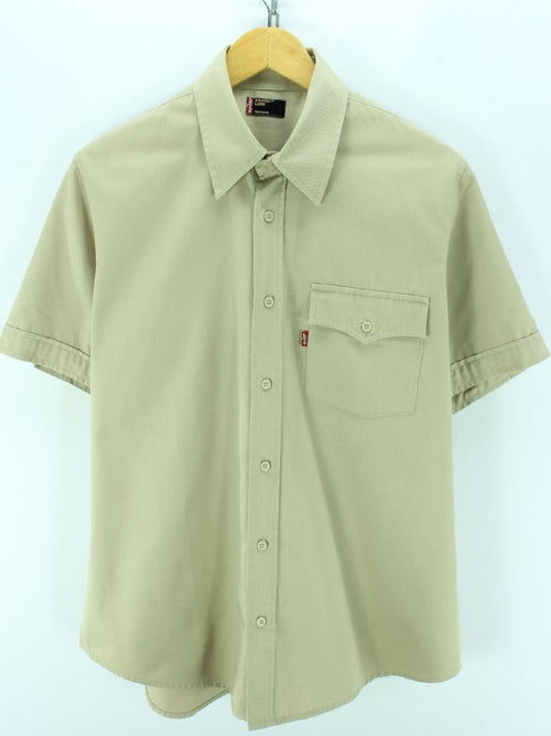 Levi's Men's Shirt Size L Beige Shortsleeves Shirt