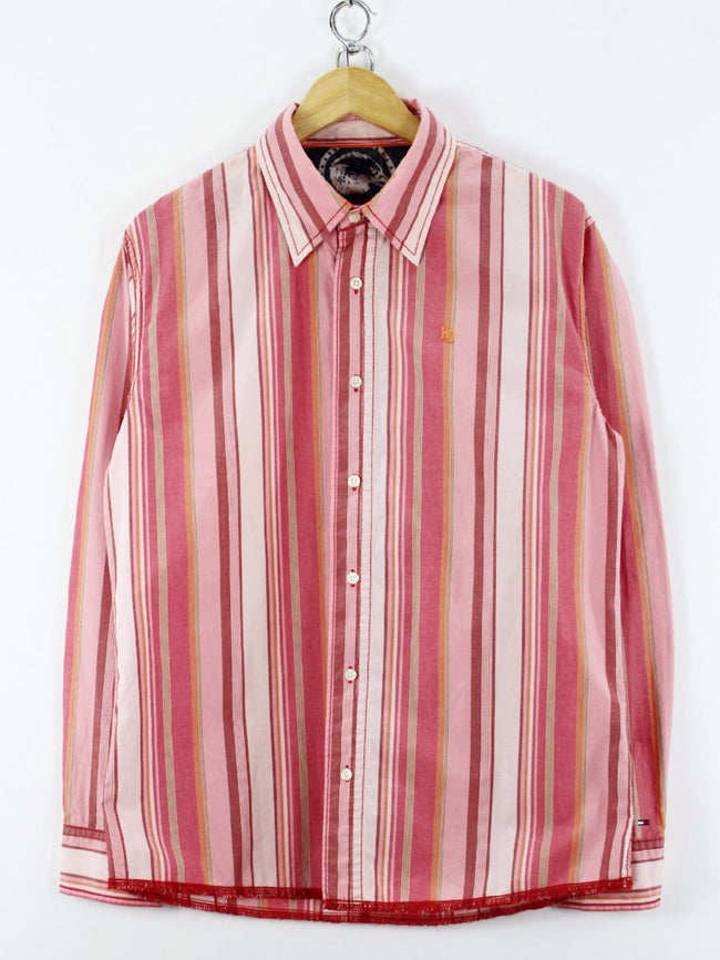 Tommy Hilfiger Denim Mens, Shirt, Size L , Striped, Long Sleeve, Cotton, Shirt, Tommy Hilfiger, - Top-Garms