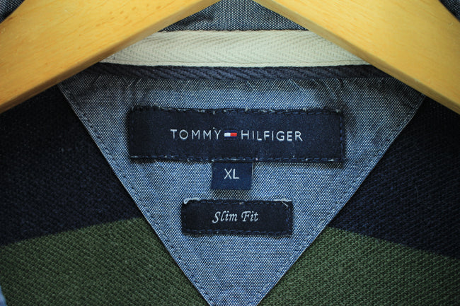 Tommy Hilfiger Men's Polo Shirt, Size XL Grey Slim Fit Polo Shirt, Polo Shirt, Tommy Hilfiger, - Top-Garms