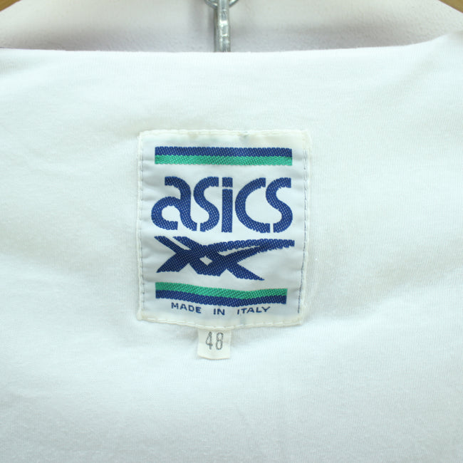 Vintage Asics Track Jacket in White Size M Zip Shell Track Jacket, Tracksuit, asics, - Top-Garms