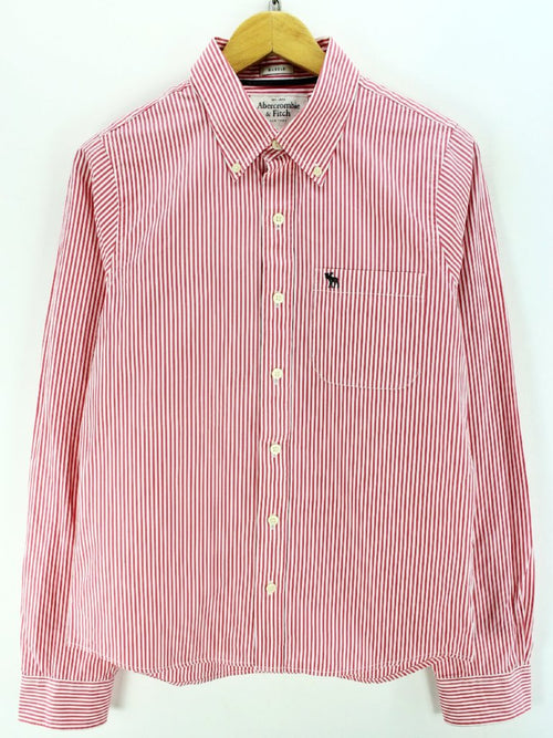 Abercrombie & Fitch Men's Shirt Size L Muscle Long Sleeve Cotton Striped