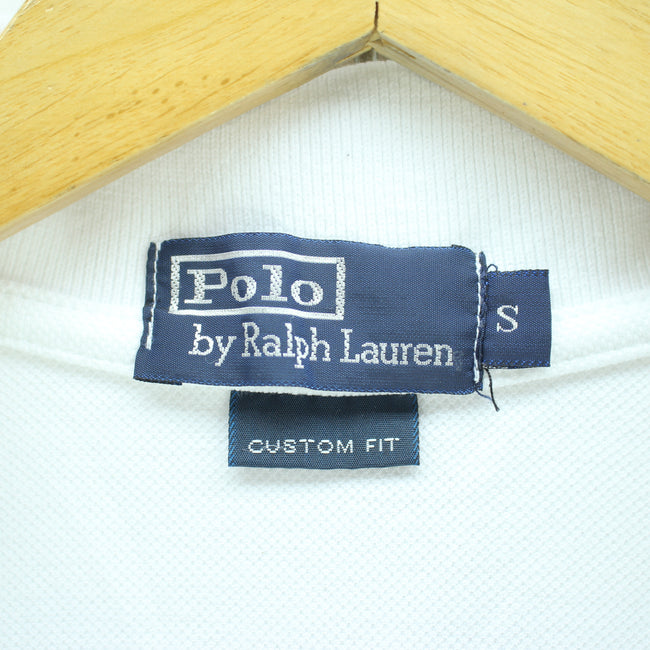 Ralph Lauren Men's Polo Shirt Size S White Flag 100% Cotton Long Sleeve, Polo Shirt, Ralph Lauren, - Top-Garms
