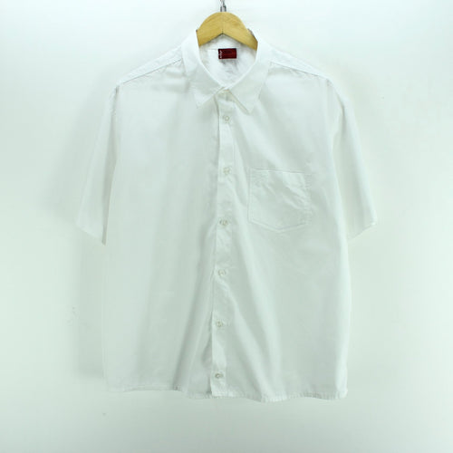 Levi's Men's Shirt Size XXL in White Color Cotton Short Sleeve