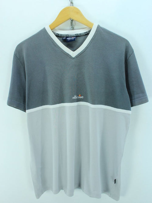 EllesseWomens T-Shirt, Size 18, Grey, Short Sleeve, Cotton, Casual Top