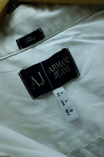 ARMANI Women's Shirt L in White Color Cotton Long Sleeve - Top-Garms