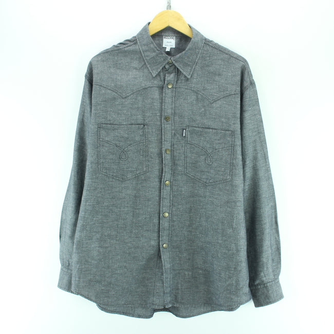 Moschino Men's Shirt Size L Grey Long Sleeve Cotton Casual Shirt, Shirt, Moschino, - Top-Garms