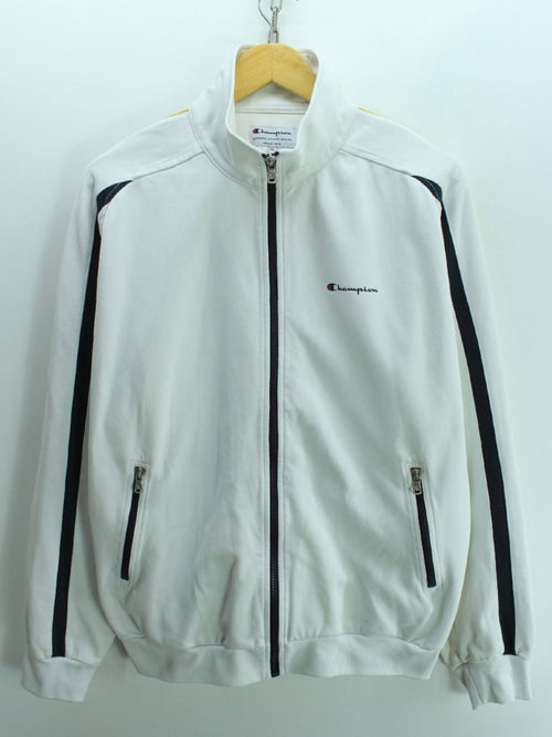 Vintage Champion Men s Track Jacket Size XL White Full Zip Tracktop fd3a0a89c5