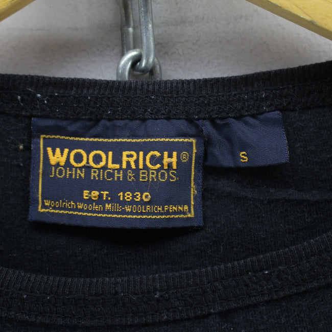 Woolrich Men's Crew Neck Jumper Size S Black Cotton Spellout Sweater, Jumper Sweater, Woolrich, - Top-Garms