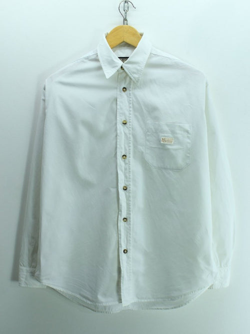 Napapijri Men's Shirt Size S White Long Sleeves Cotton Shirt