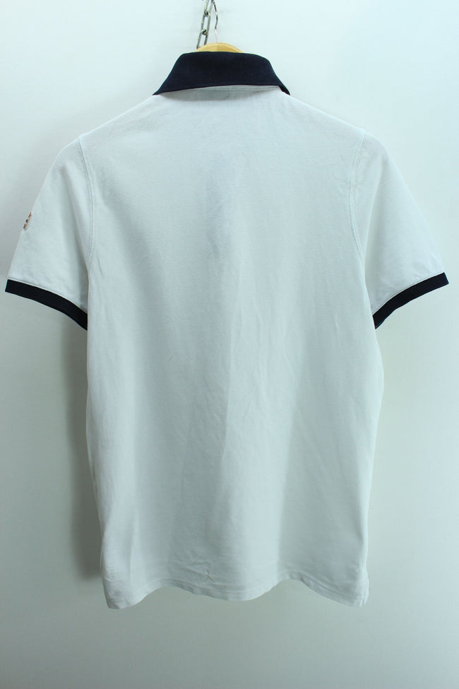 Napapijri Men's Polo Shirt Size S White Shortsleeves Cotton Polo Shirt, Polo Shirt, Napapijri, - Top-Garms