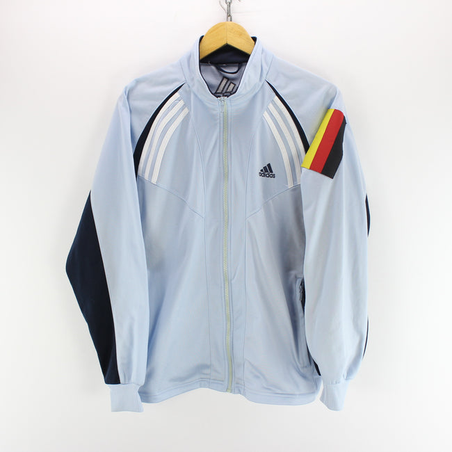 Vintage adidas Track Jacket in Light Blue Size S Long Sleeve Track Top, Tracksuit, adidas, - Top-Garms