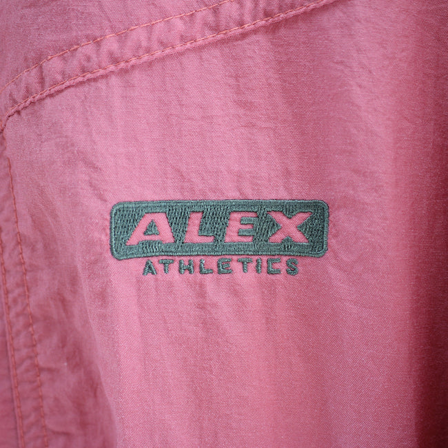 Vintage ALEX Shell Track Jacket in Pink Size M Oversized Track Top, Tracksuit, Alex, - Top-Garms