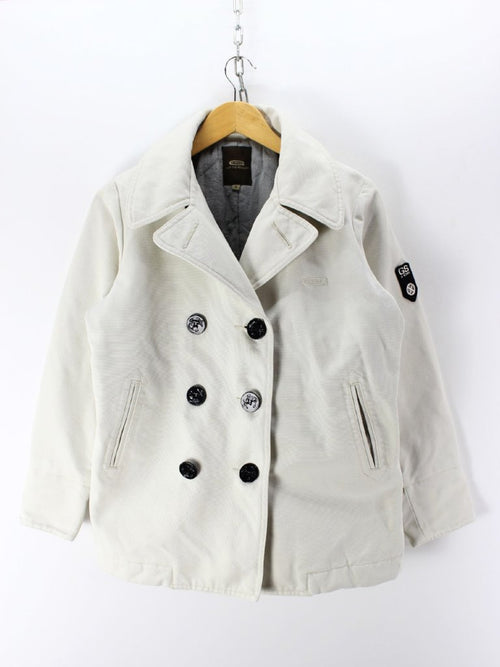Stylish G-STAR Women's Peacoat Size S in White Double breasted jacket