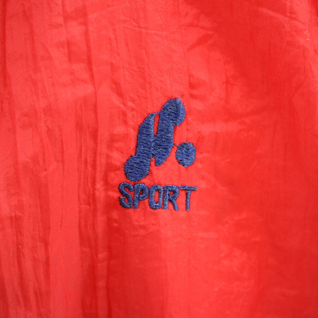 Vintage 90s Shell Track Jacket in Red & Blue Size XL Full Zip Track top, Tracksuit, Top-Garms, - Top-Garms