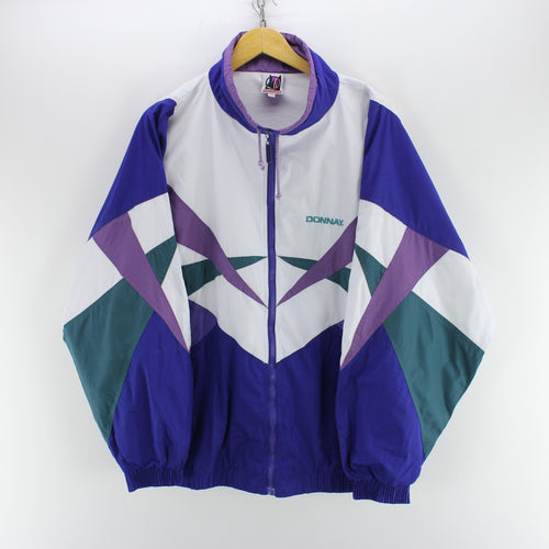 Vintage 80's Track Jacket in Purple Size 2XL Retro Track Top