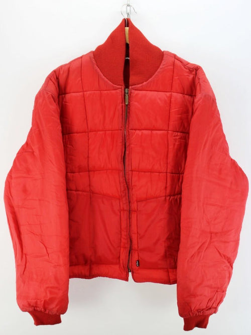 Vintage Levi's Women's Padded Jacket in L Red Full Zip Coat