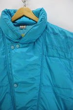Vintage 80s ellesse Padded Gilet Size L Turquoise Sleeveless Jacket Pop, Coat's & Jacket's, ellesse, - Top-Garms