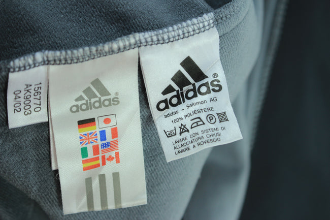 Vintage Adidas Zip Tracksuit Jacket Size 42/44 XL Black & Grey Track Top, Tracksuit, adidas, - Top-Garms