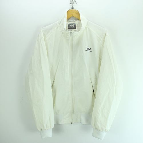 Helly Hansen Men's Jacket in White Size M Full Zip Shell Bomber Jacket