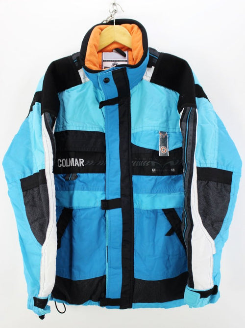 Vintage Stylish Colmar Ski Jacket in Blue Size S Nylon Skidoo jacket