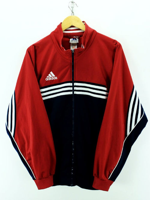 Vintage Adidas Track Jacket In Red Blue Size 42 / 44 L Full Zip Tracktop